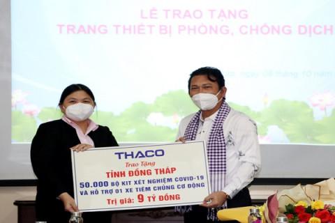 THACO trao tặng thiết bị y tế trị giá 09 tỷ đồng cho Đồng Tháp