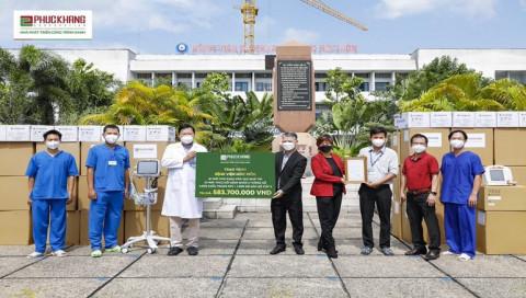 Phúc Khang Corporation tài trợ trang thiết bị y tế trị giá 3 tỷ đồng cho 5 Bệnh viện tuyến đầu tại TP.HCM