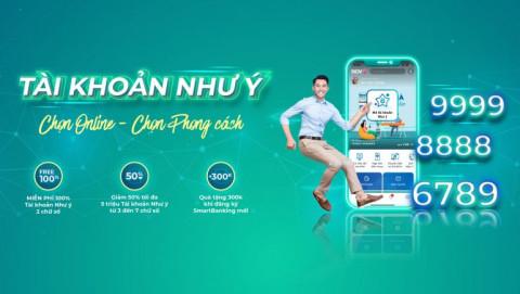 Miễn phí chọn số tài khoản Như ý trên BIDV SmartBanking
