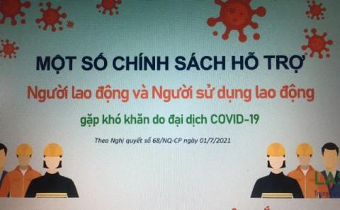 Nghệ An tiếp tục hỗ trợ cho gần 2.000 người lao động gặp khó khăn do đại dịch Covid-19 với tổng số tiền 3,8 tỷ đồng