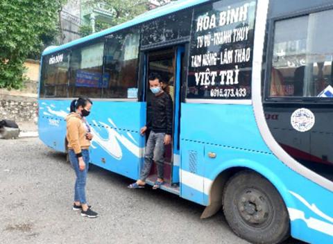 Phú Thọ thí điểm hoạt động vận tải hành khách cố định liên tỉnh đi/đến một số tỉnh và ngược lại