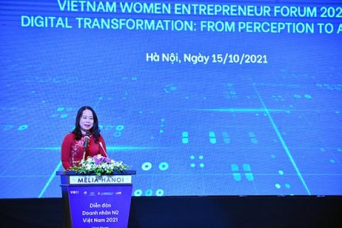 """Phó Chủ tịch nước Võ Thị Ánh Xuân tham dự """"Diễn đàn Doanh nhân nữ Việt Nam 2021"""""""