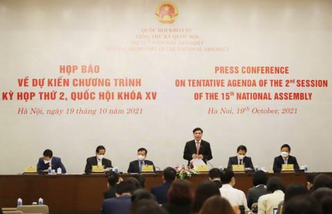 kỳ họp thứ 2, Quốc hội khóa XV được chia 2 đợt theo hình thức kết hợp trực tuyến và họp tập trung.