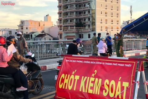 Bình Thuận: Thành phố Phan Thiết dừng hoạt động các chốt kiểm soát dịch COVID-19