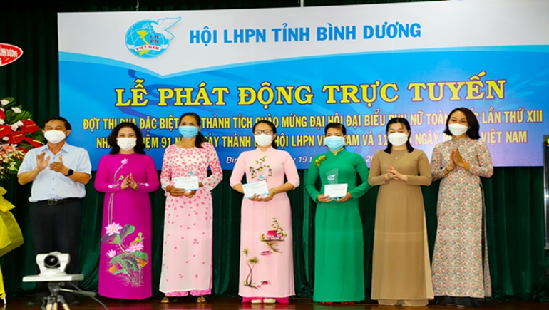 TP.Thủ Dầu Một, Bình Dương: Lễ phát động trực tuyến chào mừng Đại hội đại biểu Phụ nữ toàn quốc lần thứ XIII