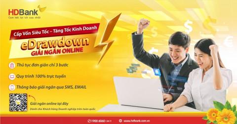 Giải ngân 100% online, tiền về ngay tài khoản doanh nghiệp tại HDBank
