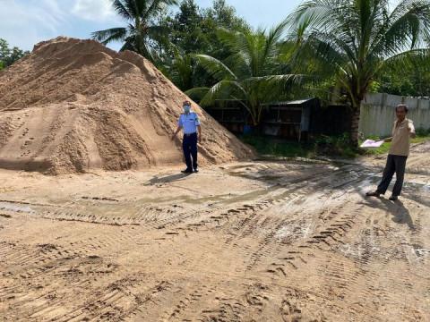 Tổng kiểm tra 56 bãi tập kết và điểm kinh doanh vật liệu xây dựng trên địa bàn huyện Đức Linh, tỉnh Bình Thuận