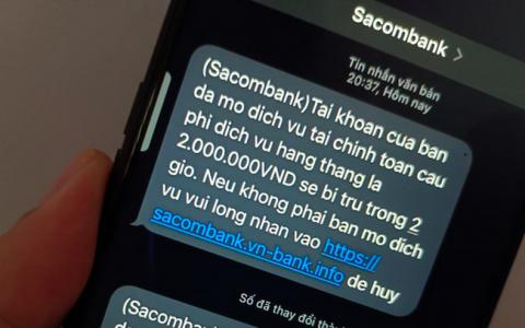 Cảnh báo lừa đảo qua tin nhắn giả mạo Sacombank