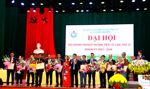 Đại hội Hội Doanh nghiệp huyện Tiên Lữ, tỉnh Hưng Yên nhiệm kỳ 2021 - 2026
