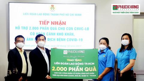 Phúc Khang tài trợ 2.000 phần quà trị giá 300 triệu đồng cho con của CN-VCLĐ có hoàn cảnh khó khăn tại TP.HCM