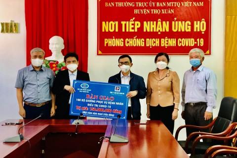 Thanh Hóa: Trao tặng 100 bộ giường cá nhân cho Khu cách ly tập trung huyện Thọ Xuân
