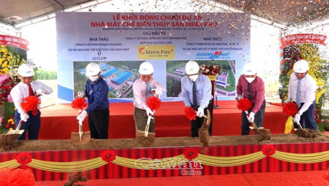 Khởi động chuỗi dự án nhà máy chế biến thủy sản Minh Phú tại Cà Mau
