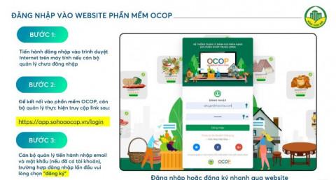 Vì sao chuyển đổi số của trên phần mềm đánh giá, phân hạng sản phẩm OCOP là cần thiết và cấp thiết?