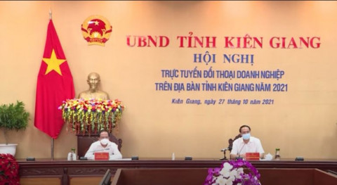 Kiên Giang: Hội nghị trực tuyến đối thoại doanh nghiệp năm 2021